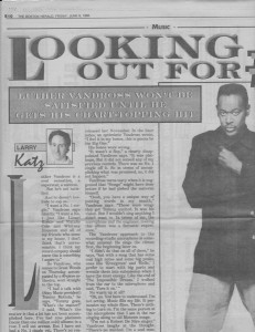 "My Boston Herald story, June 9, 1995. The headline is ""Looking Out for #1."""